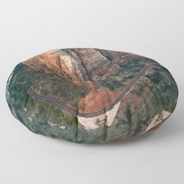 Zion Canyon Floor Pillow