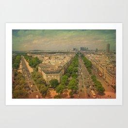 Avenue De Champs Elysees in Paris Art Print