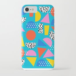 Airhead - memphis retro throwback minimal geometric colorful pattern 80s style 1980's iPhone Case
