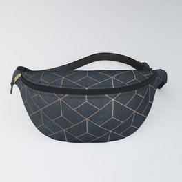 Gold Art deco on Navy ink Fanny Pack