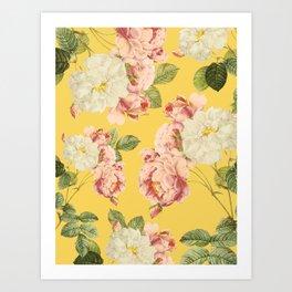 Flora temptation - sunny mustard Kunstdrucke