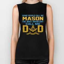 I'm a MASON and a DAD Biker Tank