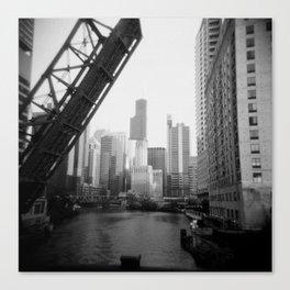 Chicago River, Holga Canvas Print
