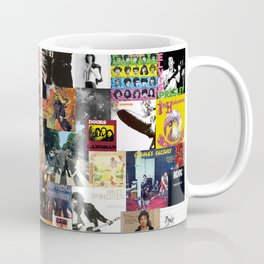 Classic Rock And Roll Albums Collage Coffee Mug