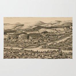 Old Lebanon NH & White River Junction VT Map (1889) Rug