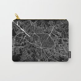 Bucharest Black Map Carry-All Pouch