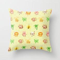 Baby animals Throw Pillow
