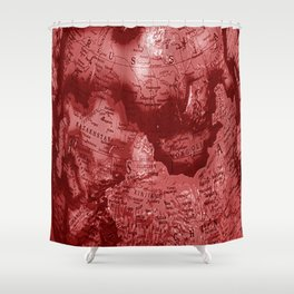 Russia in Red Shower Curtain