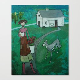 farm girl Canvas Print