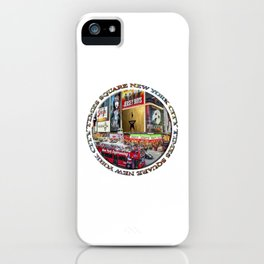 Times Square New York City (badge emblem on white) iPhone Case