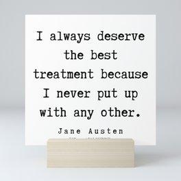 30     | Jane Austen Quotes | 190722 Mini Art Print