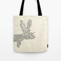hare Tote Bags featuring Hare by Amy Veried