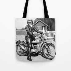 1952 Motorcycle Momma Tote Bag