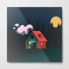 Cabin Home Metal Print