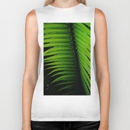 Palm tree leaf - tropical decor Biker Tank