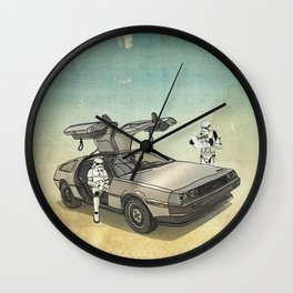Lost, searching for the DeathStarr _ 2 Stormtrooopers in a DeLorean  Wall Clock