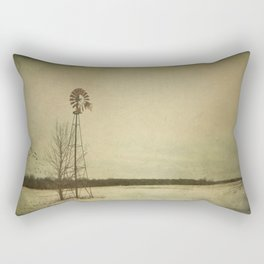 While the wind moans a dirge to a coyote's cry... Rectangular Pillow