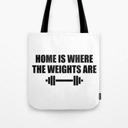At Home Gym Tote Bag