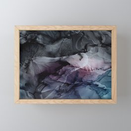 Moody Dark Chaos Inks Abstract Framed Mini Art Print