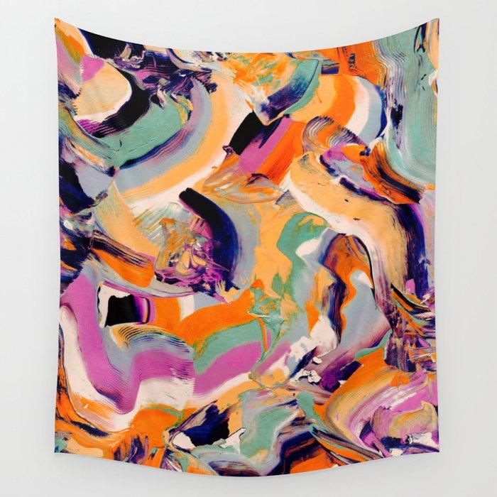 Sara - Abstract Brushstrokes Wall Tapestry