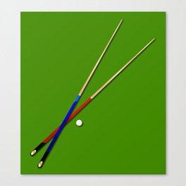 Snooker Cues Canvas Print
