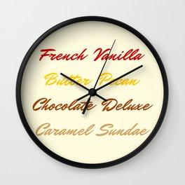 Wu Tang's Ice Cream- Ivory Wall Clock