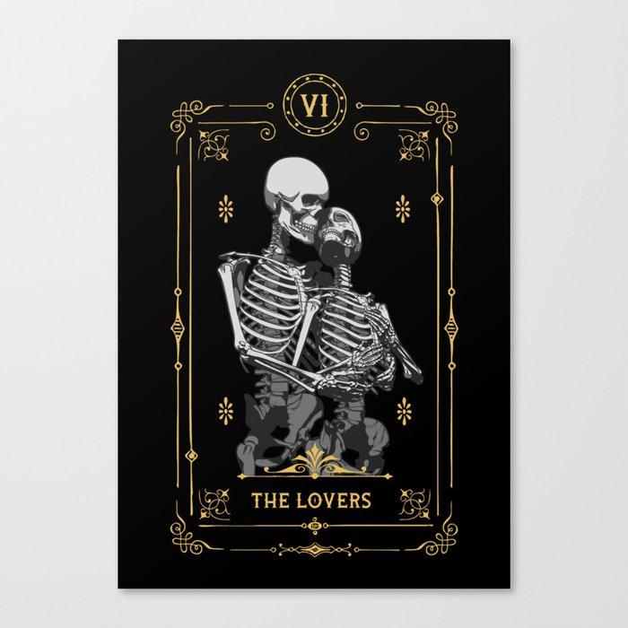 The Lovers VI Tarot Card Leinwanddruck