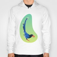 low poly Hoodies featuring Low-poly blue bird by fortyfive