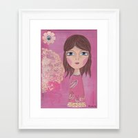 courage Framed Art Prints featuring Courage by ArtByBeata
