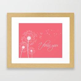 I floss you (pink) Framed Art Print