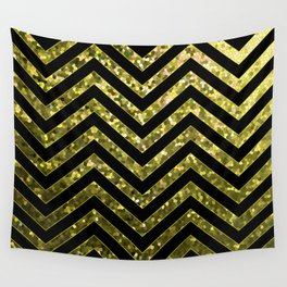 ZigZag Gold Sparkley G190 Wall Tapestry