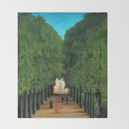 Henri Rousseau - Avenue in the Park at Saint Cloud Throw Blanket