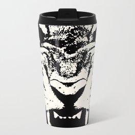 White Tiger Vector Travel Mug