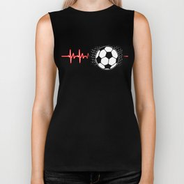 Soccer Heartbeat Goalie Football Players Goalie Rugby Team Sports Gift Biker Tank