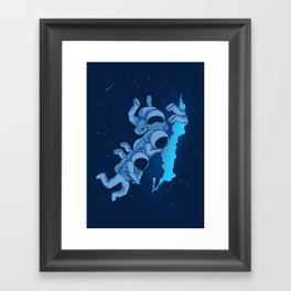 The outside world Framed Art Print