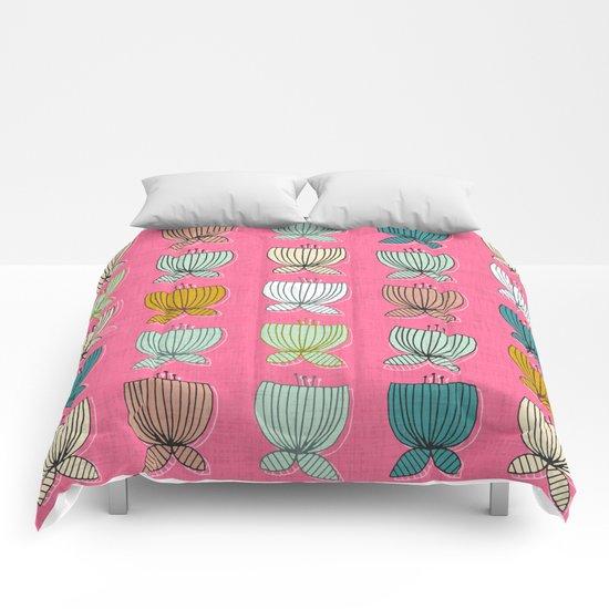 flower cups pink Comforters