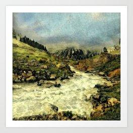 Mill Valley Stream Roar Art Print