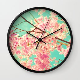 Pink constellation Wall Clock