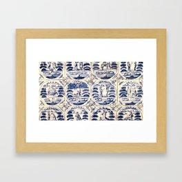 Dutch Delft Blue Tiles Framed Art Print
