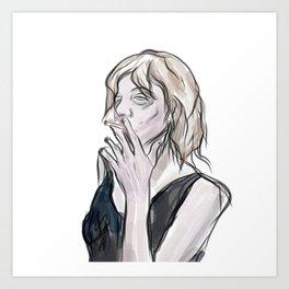 Love Smoking  Art Print