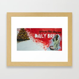 daily bread Framed Art Print