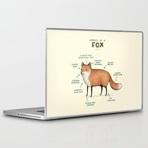 Anatomy of a Fox Laptop & iPad Skin by sophiecorrigan | Society6
