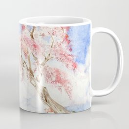 Girl on a Sakura Tree Swing with Cats Coffee Mug