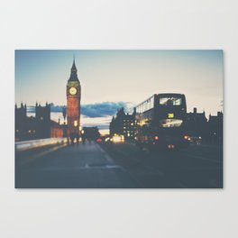 the night bus ...  Canvas Print