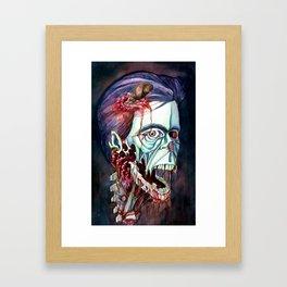 Portrait of the KING Framed Art Print