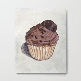 Salted Caramel Cupcake Metal Print