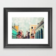 Colorful Buildings of Old San Juan, Puerto Rico Framed Art Print