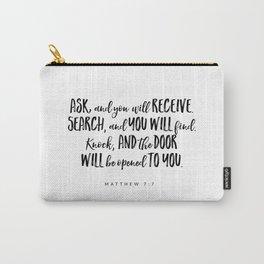 Matthew 7:7 Bible Verse Carry-All Pouch