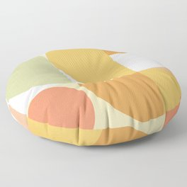 The colours of Summer #geometric #pattern Floor Pillow