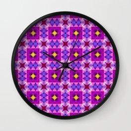 Pattern romb violet Wall Clock
